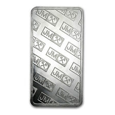 100 oz Johnson Matthey Silver Bar - Vintage Pressed Bar - SKU #61316