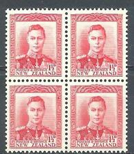 New Zealand 1944 Sc# 228b King George block 4 MNH