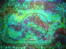 TRIQUETRA Altar Cloth / Sarong, 44 x 72 Wicca, Witch, Pagan  Triqueta TIE DYE