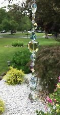Healing Green Heart Crystal Suncatcher/Prisms W/Feng Shui Crystal Ball  USA