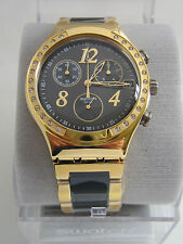 SWATCH DREAMNIGHT YELLOW GOLD WATCH CHRONOGRAPH YCG405G BNWT