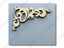4 PACK x 53mm ORNATE WOODEN SHAPES WOOD WEDDING ALBUM SCRAPBOOK CARD DECORATION
