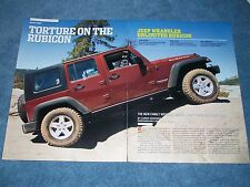 "2007 Jeep Wrangler Unlimited Rubicon Road Test Article ""Torture on the Rubicon"""