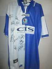 Blackburn Rovers 1998-2000 Home Squad Signed Football Shirt with COA /21934