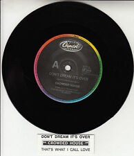 """CROWDED HOUSE  Don't Dream It's Over 7"""" 45 rpm record + juke box title strip"""