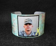 *MILITARY* Photo Cuff Bracelet, Bangle, Custom, Pets, Sister, Personalised