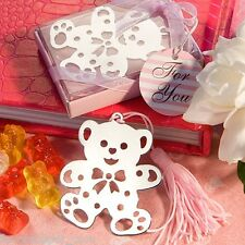 20 Pink Teddy Bear Bookmarks birthday party favor Girl Baby Shower Favors