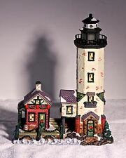 Collectable Holiday Expressions Christmas Village Lighthouse Retired 2002 791