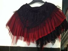 RQBL steampunk gothic frilly skirt freesize red and black