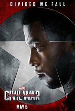 POSTER CAPTAIN AMERICA CIVIL WAR CAPITAN PANTERA NERA BLACK PANTER LOCANDINA #8
