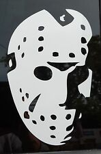 Friday the 13th Jason Mask 8 inch tall Vinyl Decal Horror Halloween