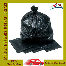 400 HEAVY DUTY BIN BAG LINERS RUBBISH REFUSE SACKS BLACK STRONG BAGS