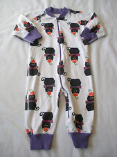 Girls HANNA ANDERSSON 70 6-12M Black Cat Halloween Zippers Pajamas Organic