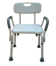 Medical Bath Seat Shower Bathtub Bench Chair With 300 lbs Weight Capacity & Back