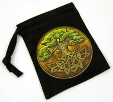 BEAUTIFUL TREE OF LIFE RUNES OR CRYSTALS BAG 10cm x 13cm - LISA PARKER