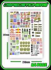 SLOT CAR STICKER SHEET SCALEXTRIC PLAFIT 1/18 1/24 1/36 SLOTCAR RACING DECAL AFX