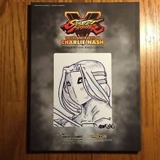 SDCC 15 STREET FIGHTER V LIFE & DEATH(S) CHARLIE NASH HARDCOVER VEGA SKETCH