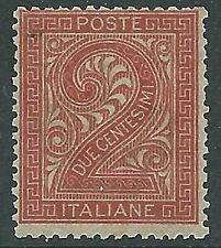 1863-65 REGNO CIFRA 2 CENT TORINO MNH ** - Y171-5