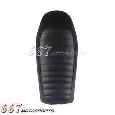 New Universal Motorcycle Hump Custom Cafe Racer Seat Vintage Seat Cushion Black