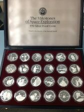 The Milestones of Space Exploration $50 Silver Proof Coins 24 Coins