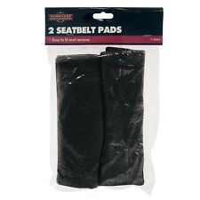 2x COMFORTABLE BLACK FLEECE CAR SEAT BELT VELCRO PADS COVERS HARNESS PROTECTORS