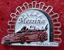 RARE PIN'S FERRARI TESTAROSSA PUB PIZZA MESSINA VILLE TOULON