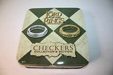 Lord Of The Rings Checkers Collector''s Edition Tin JJR Tolkien Hobbit EUC