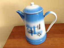 Vintage Airbrush Spritzdekor Art Metal Tea/Coffee Pot