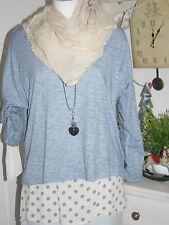 Your&Self Shirt + Bluse Langarm Stars 2-teilig Blue  Melange size:38-42 Neu