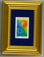 BREAST CANCER AWARENESS SHE-RO  A GLASS FRAMED COLLECTIBLE POSTAGE MASTERPIECE!