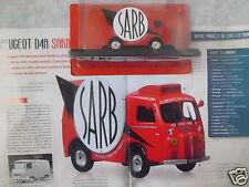 """CAMION-FOURGON PUBLICITAIRE PEUGEOT D4A """"SARB"""" (1950-1960) (1/43éme)."""