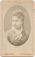 CARTE DE VISITE. YOUNG WOMAN WITH A BRAIDED. CRAMER PHOTO. SAN FRANCISCO, CA.
