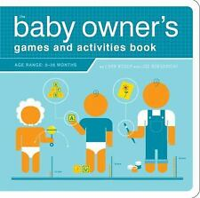 Owner's and Instruction Manual: The Baby Owner's Games and Activities Book by L…
