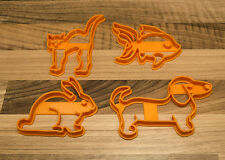 Pet Cookie Cutters - Cat Cookie Cutter, Dog Cookie Cutter, Goldfish and Rabbit
