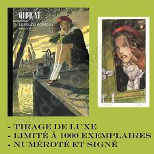Tirage de luxe GIBRAT Le vol du corbeau tome 1 et 2 + XL 1000ex signé Multi BD