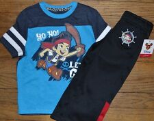 Jake and Never Land Pirates Athletic Fleece Lined Pants & Matching Tee Size 2T