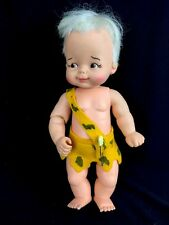 Vintage 1960s Ideal Toy Bam Bam Flintstones BB-12 Hanna-Barbera Vinyl Boy Doll