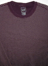 GAP- Men's Lavender Striped Long Sleeve Thermal  Pullover Shirt Size XL