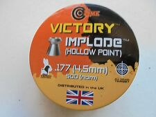 smk  victory implode (hollow point) 4.5mm / .177 x 125 sample air rifle pellets.
