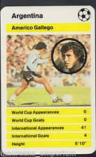 Top Trumps World Cup 1978 Football Card - Argentina - Americo Gallego