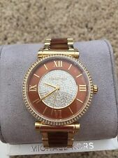 BRAND NEW Michael Kors Gold-Tone Catlin Watch M3411