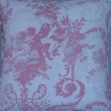A 16 Inch Cushion Cover In Laura Ashley Cherubs Pink Fabric