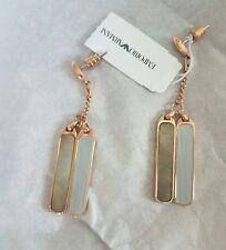 Nuevo Emporio Armani Oro Rosa Hermosa madreperla pendientes de las gotas * PVP £ 255