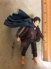 2002 Frodo Baggins w Sting Sword Action Figure Lord Of The Rings Two Towers