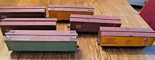 VINTAGE O SCALE HANDMADE WOOD BOXCARS SET OF 6