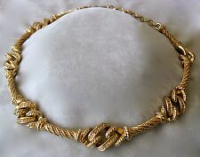 Christian DIOR Rhinestones & Gold Tone Vintage Necklace