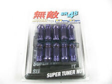 Muteki SR48 Extended Open Ended Wheel Tuner Lug Nuts Chrome Purple 12x1.25mm NEW