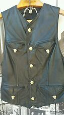 1992 Gianni Versace Bergdorf Goodman 745 Leather Vest US M/L IT52  American West