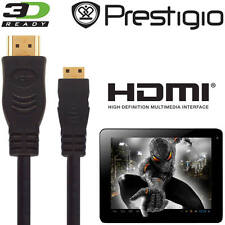 Prestigio Multipad 4 Diamond 10.1 3G Tablet PC HDMI Mini to HDMI TV 2.5m Cable