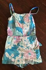 Vintage 1950s Cotton Hawaiian Swimsuit Bathing Suit Size M